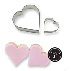 Cookie & Cake Heart Cutter (Set/2)
