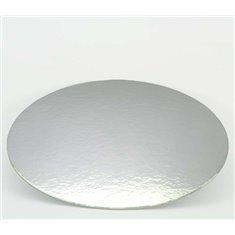 Δίσκος στρογγυλός Ασημένιος-Λευκός με γκρι ράχη - Πάχος 1,5χιλ. Διαμ.12εκ. (1τεμ.)