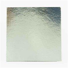 Δίσκος τετράγωνος Ασημένιος-Λευκός με γκρι ράχη - Πάχος 1,5χιλ. Διαμ.20,3εκ. (1τεμ.)