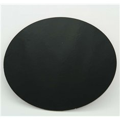"10"" Black-White Double Face Round Cut Edge Cake Cards (1,5mm Thick) 1pc."
