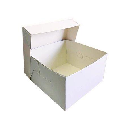 Λευκό ποιοτικό κουτί μεταφοράς τούρτας 35x35xY15,2εκ.