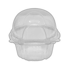 Clear Large Single Muffin Container 6,5xH8cm.