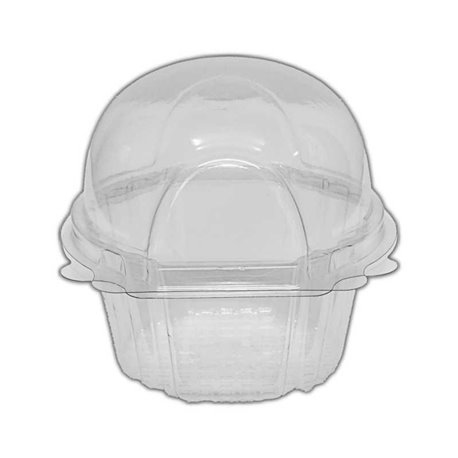 Clear Large Single Muffin Container 65xH8cm