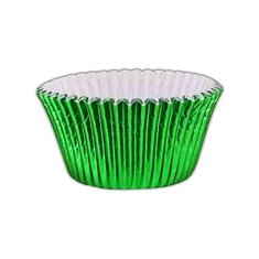 Emerald Green Foil Cupcake Cases (50mm x 37.5mm) x 40 pcs