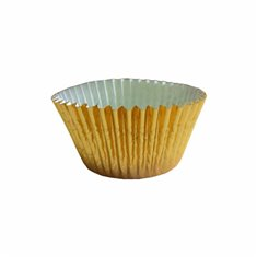 Gold Foil Cupcake Cases (50mm x 37.5mm) x 40pcs