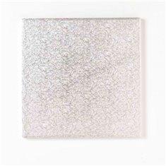 Δίσκος τετράγωνος Ασημένιος Πάχος 1,3εκ. - 12,5εκ.