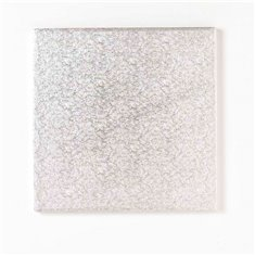 "8"" Silver Square Drum (13mm Thick)"