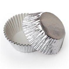 Silver Foil Cupcake Cases (50mm x 37.5mm) x 40 pcs