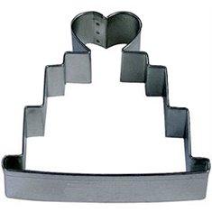 Μεταλλικό Κουπάτ Μπισκότου Γαμήλια Τούρτα με topper καρδιά