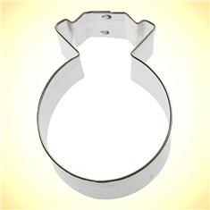 Metallic Cookie Cutter Wedding Ring 3In.