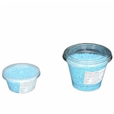 Non Pareil Light Blue polished  2-3mm 200 gr.
