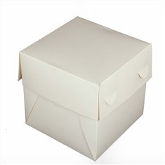 Λευκό Κουτί Μεταφοράς Τούρτας υψηλής ποιότητας 15,2x15,2xΥ15,2εκ