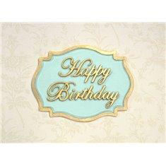 Καλούπι Αποτύπωσης - Μίνι Πλακέτα - Ευχές (Happy Birthday) της Katy Sue
