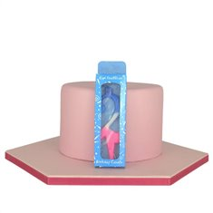 Tricolor Birthday Candle  with Number 2