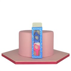 Tricolor Birthday Candle  with Number 8