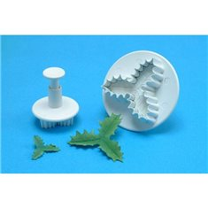 S/M Veined Three Leaf Holly Cutters (Set 2)