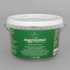 Sugarlicious Sugar Paste ready to Roll Xmas Green 3kg.