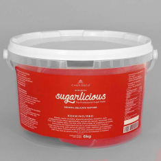 Sugarlicious Sugar Paste ready to Roll Red 6kg.