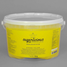 Sugarlicious Sugar Paste ready to Roll Yellow 6kg.
