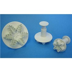 Snowflake Plunger Cutters (Set 3)