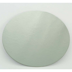 """3"""" Silver-White Double Face Round Cut Edge Cake Cards (1,5mm Thick) 1pc."""