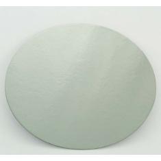 Δίσκος στρογγυλός Ασημένιος-Λευκός με γκρι ράχη - Πάχος 1,5χιλ. Διαμ.7,5εκ. (1τεμ.)