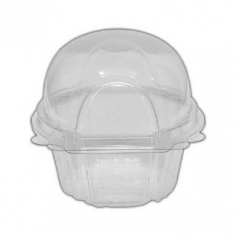 Clear Single Medium Muffin Container 5,5x7xH8cm.