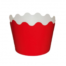 Small Cupcake Cups with anti-stick Baking Sheet D5,7xH4cm. - Red 65pc