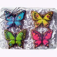 Metallic Cookie Cutter Butterfly 3.5 in