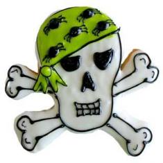 Metallic Cookie Cutter Skull & Crossbones