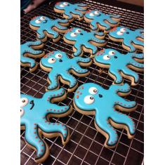 Metallic Cookie Cutter Octopus