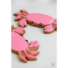Mini Crab Metallic Cookie Cutter 1.75 In.