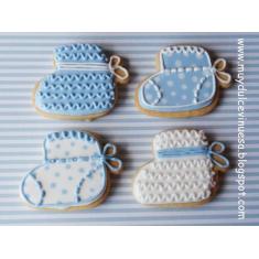 Baby Bootie Tin Cookie Cutter 3.5