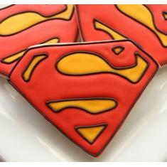 Μεταλλικό Κουπάτ Μπισκότου Πολύτιμος Λίθος / Σήμα Superman