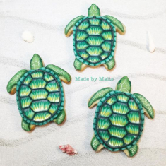 Mini Sea Turtle Metallic Cutter 1.5 In.