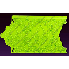 Καλούπι Πλευρικό Fleur de Lis Pattern Silicone Onlay™