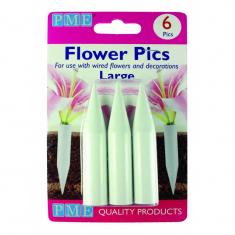 Large Flower Picks Pk.6