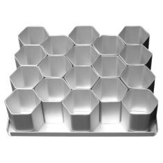 "Multi-Mini Σετ 15τεμ. Εξάγωνα Φόρμες Ψησίματος Διαμ.6,35εκ (2 1/2""in) της Silverwood"