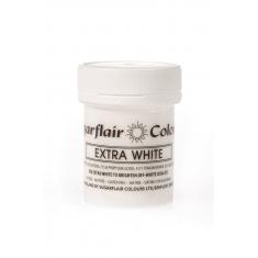Χρώμα Πάστας Sugarflair  - Έξτρα Λευκό - 50γρ.