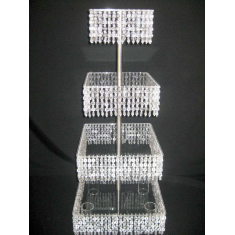 Square 3 floor Cake Stand