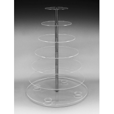 Luxury Round Stand with Seven Floors 45cm