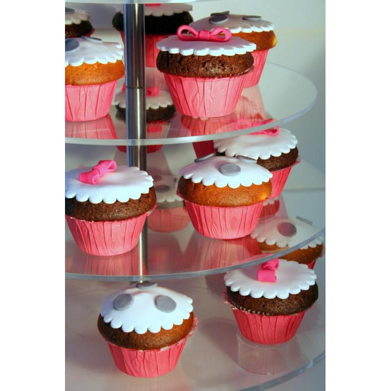 Στρογγυλή Βάση για Cupcakes Επτά Ορόφων 2db96b9d8dc