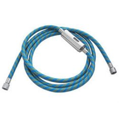Blue Airbrush hose 1,80m - G1/8-G1/8 with in-line filter
