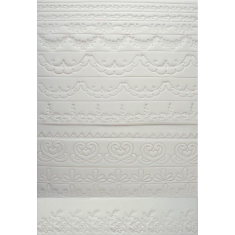 Κουπάτ Σετ Διάφορα Σχέδια/Κεντήματα για Πλαινά Τούρτας (Embroidery Embosser Set)