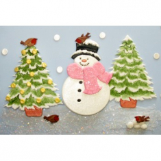 Large Snowman & Tree Cutter