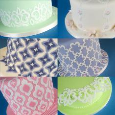 Κουπάτ Γεωμετρικά Σχέδια για πλαινά τούρτας (Mix And Match)