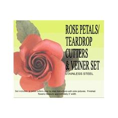 Σετ κουπάτ με διπλό αποτύπωμα πετάλου Τριαντάφυλλου