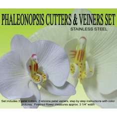 Moth Orchid Cutter & Veiner Set