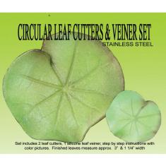Water Lily Pad Cutter & Veiner Set