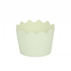 Κυπελάκια Cupcakes με καραμελόχαρτο Μικρά Δ5,7xΥ4εκ. - Λευκό - 20τεμ